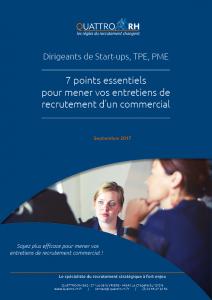 Livre blanc 7 Points Essentiels Pour Un Entretien De Recrutement Commercial